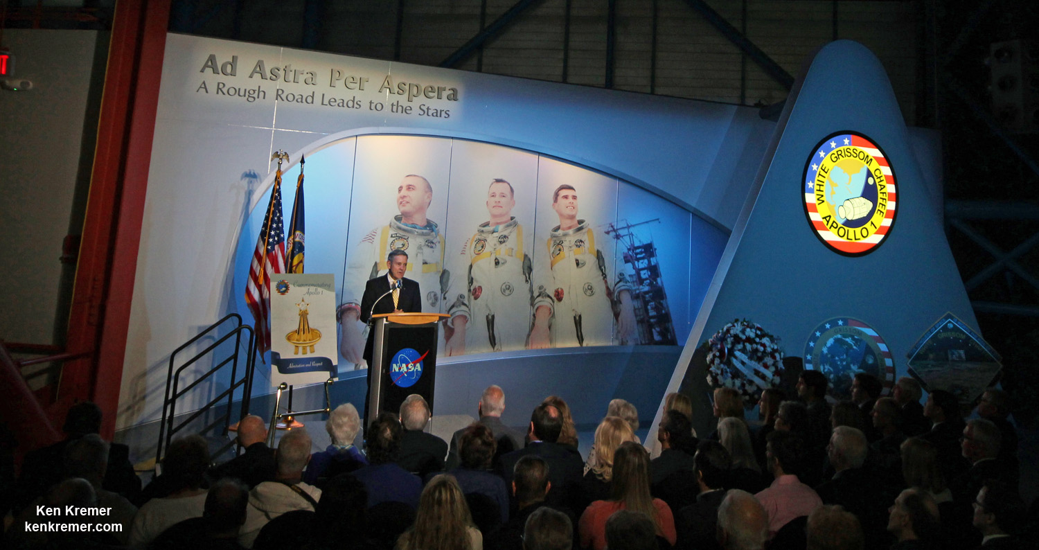 NASA Tribute Exhibit Honors Fallen Crew 50 Years After Apollo 1 Tragedy