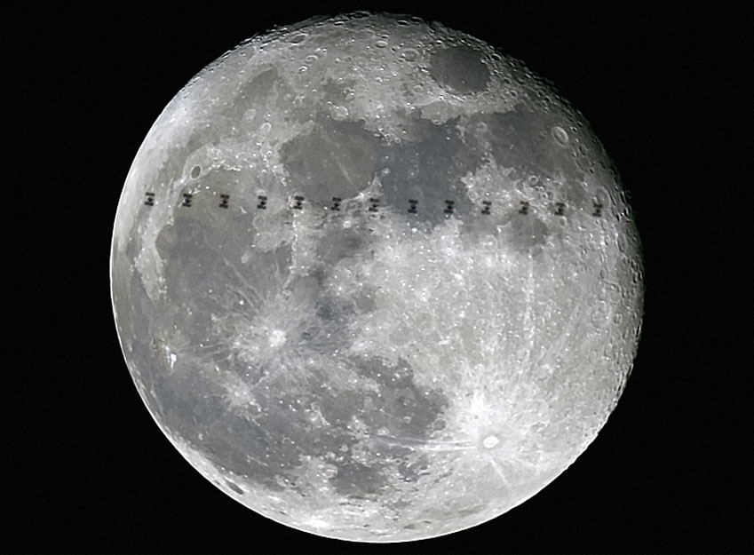 How to See the Space Station Fly in Front of the Moon
