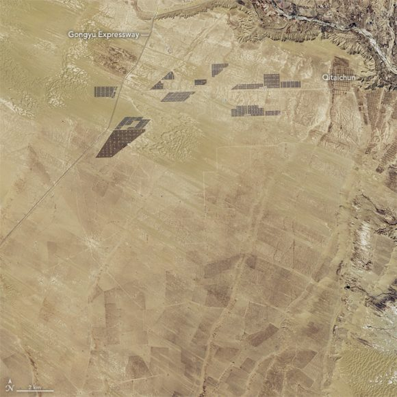 You Can't See the Great Wall of China From Space, But You Can See Their Giant Solar Farm –
