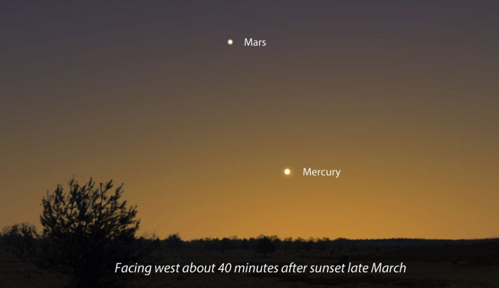 See Mercury At Dusk, New Comet Lovejoy At Dawn