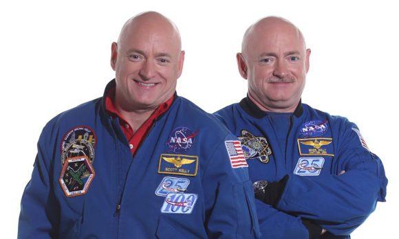NASA's astronauts twins, Scott Kelly (l) and Mark Kelly (r). Image: NASA