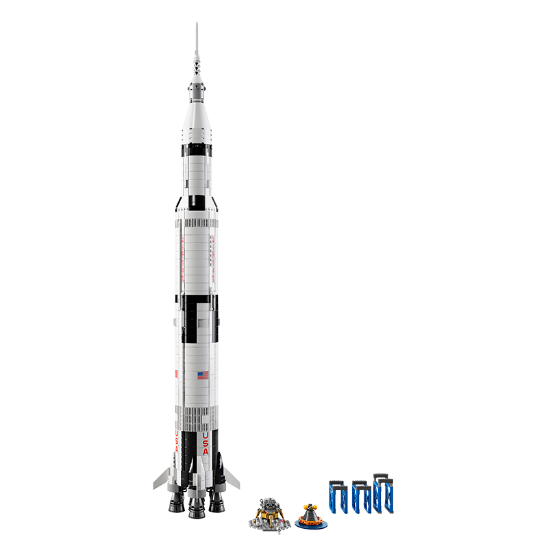 LEGO Saturn V in launch configuration. Credit: LEGO