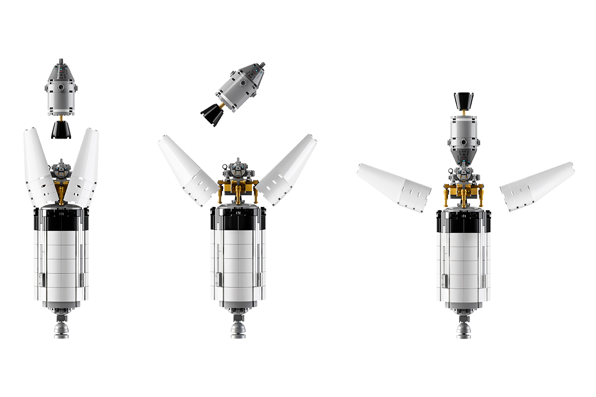Command, Service and Lunar Lander Modules in various configurations. Credit: LEGO