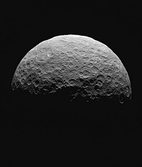 Dwarf planet Ceres is the largest object in the asteroid belt between Mars and Jupiter. Credit: NASA/JPL-Caltech/UCLA/MPS/DLR/IDA, taken by Dawn Framing Camera