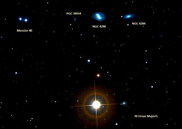 Messier 40 – the Winnecke 4 Double Star