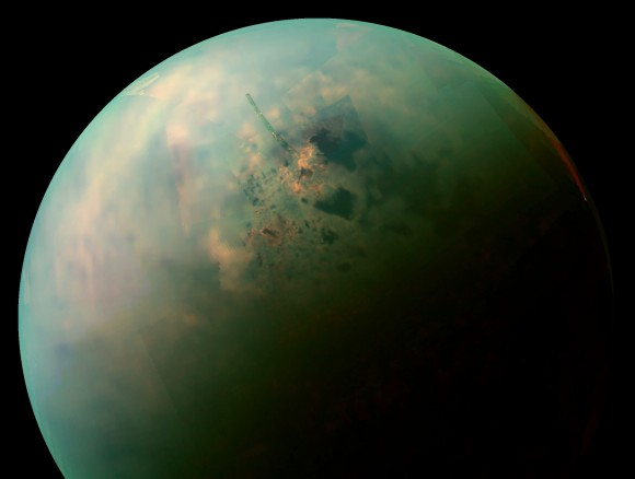 Titan's dense, hydrocarbon rich atmosphere remains a focal point of scientific research. Credit: NASA
