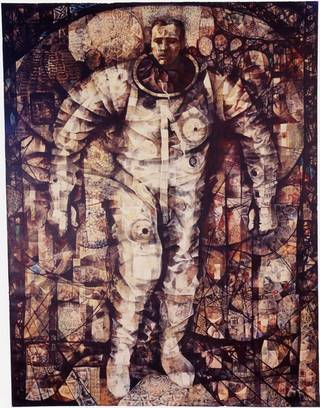 Mitchell Jamieson produced this painting of astronaut Gordon Cooper. Titled