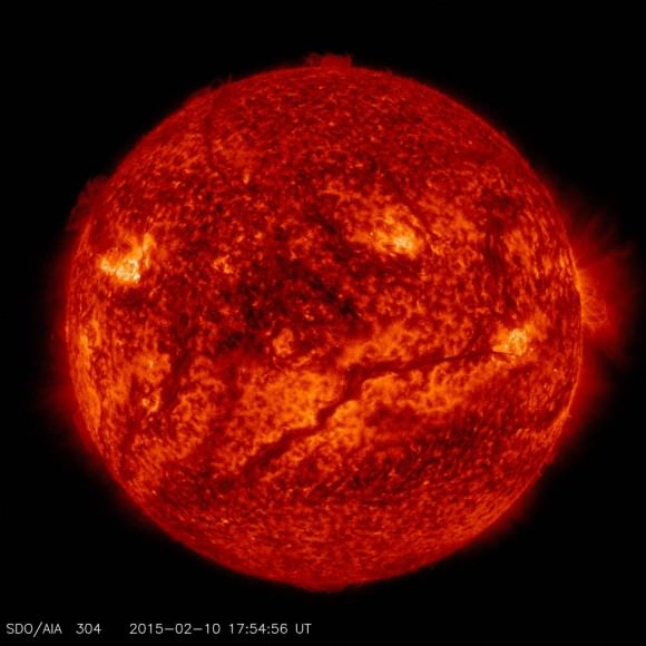 Our Sun in all its intense, energetic glory. When life appeared on Earth, the Sun would have been much different than it is now; a more intense, energetic neighbor. Image: NASA/SDO.