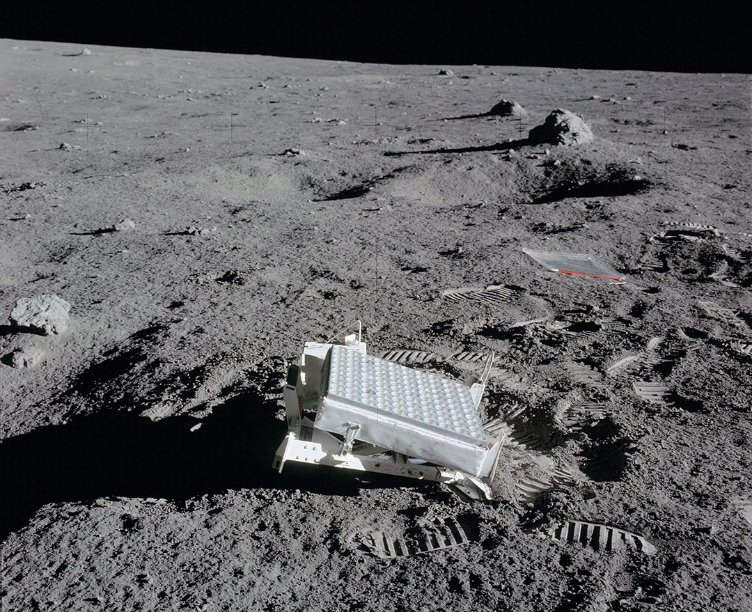 The Lunar Laser Ranging Experiment placed on the Moon by the Apollo 14 astronauts. Credit: NASA