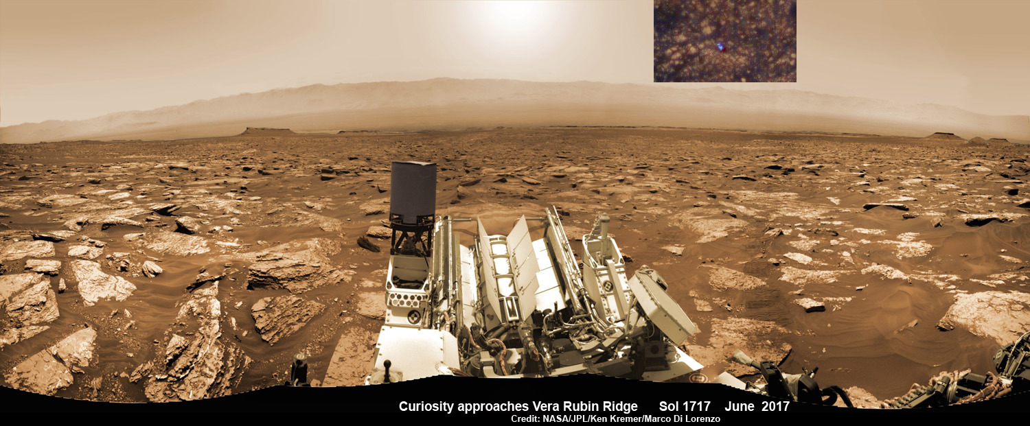 See NASA's Curiosity Rover Simultaneously from Orbit and Red Planet's Surface Climbing Mount Sharp