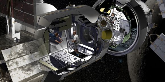 Artist illustration of Habitation Module. Credit: Lockheed Martin