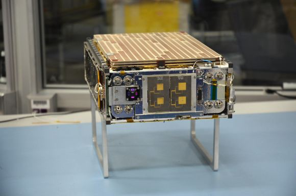 One of the MarCO Cubesats that will be launched with InSight. This will be the first time that CubeSat technology will be tested at another planet. Image: NASA/JPL-CalTech