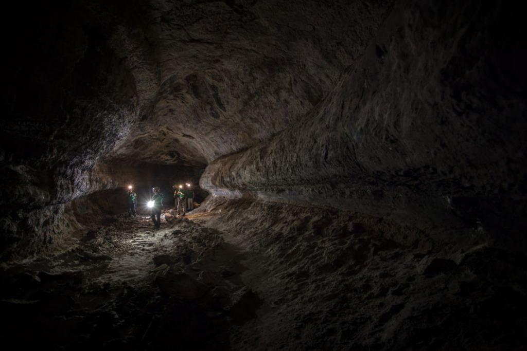 Exploring lava tubes in the Canary Islands. Credit: ESA-L.Ricci