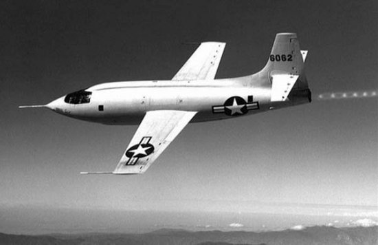 Shock diamonds in Chuck Yeager's X-1